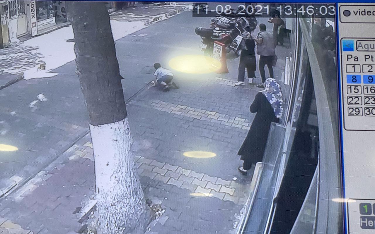 Adıyaman'da karşıya geçen çocuğa motosiklet çarptı!