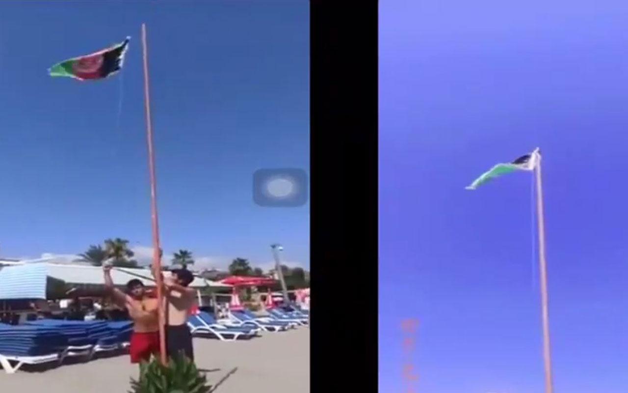 Alanya'daki bayrak asma görüntüleriyle ilgili açıklama