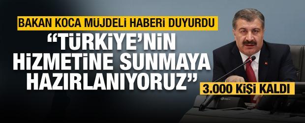 Bakan Koca son dakika müjdeyi verdi: Türkiye'nin hizmetine sunmaya hazırlanıyoruz