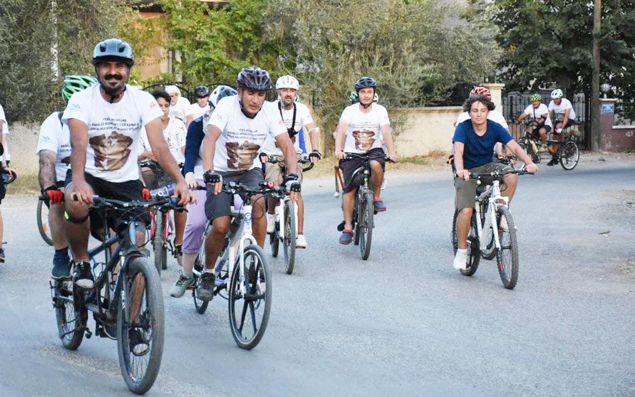 Balıkesir'de 'Engelsiz Bisikletliler' pedal çevirdi