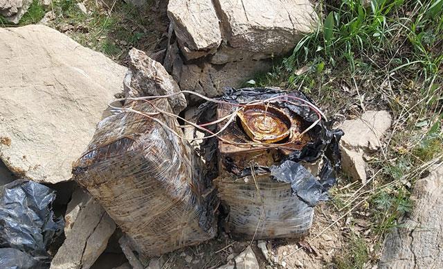 Bitlis kırsalında 90 kilo el yapımı patlayıcı ele geçirildi