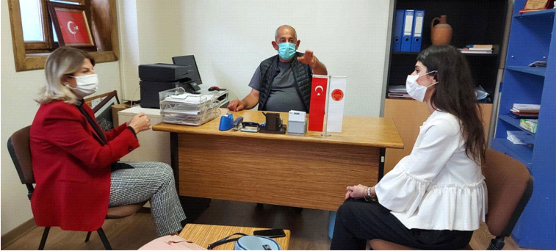 Bursa Mudanya'da DEVA Partisi'nden Tirilye'ye geçmiş olsun ziyareti
