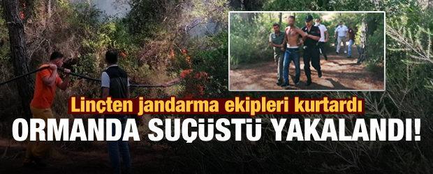 Büyük çapta orman yangını çıkarmaya çalışan şahıs suçüstü yakalandı!