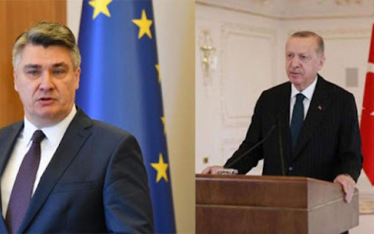 Cumhurbaşkanı Erdoğan'dan Hırvatistan'daki mevkidaşına teşekkür
