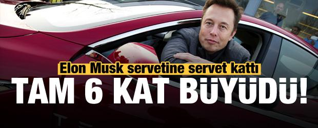 Elon Musk servetine servet kattı! Tam 6 kat büyüdü...