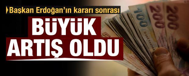 Erdoğan'ın 'BES' kararı sonrası büyük artış!