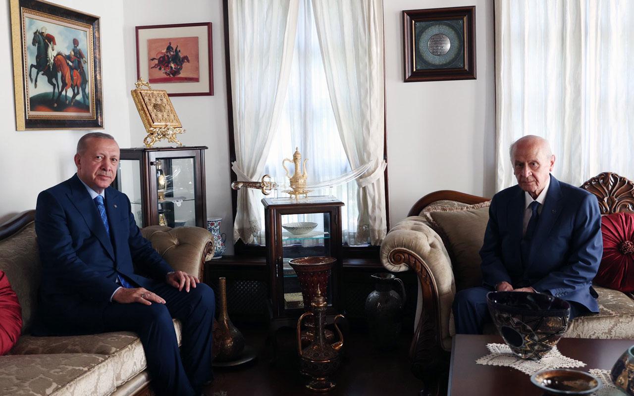 Erdoğan'dan Bahçeli'ye 'ev' ziyareti