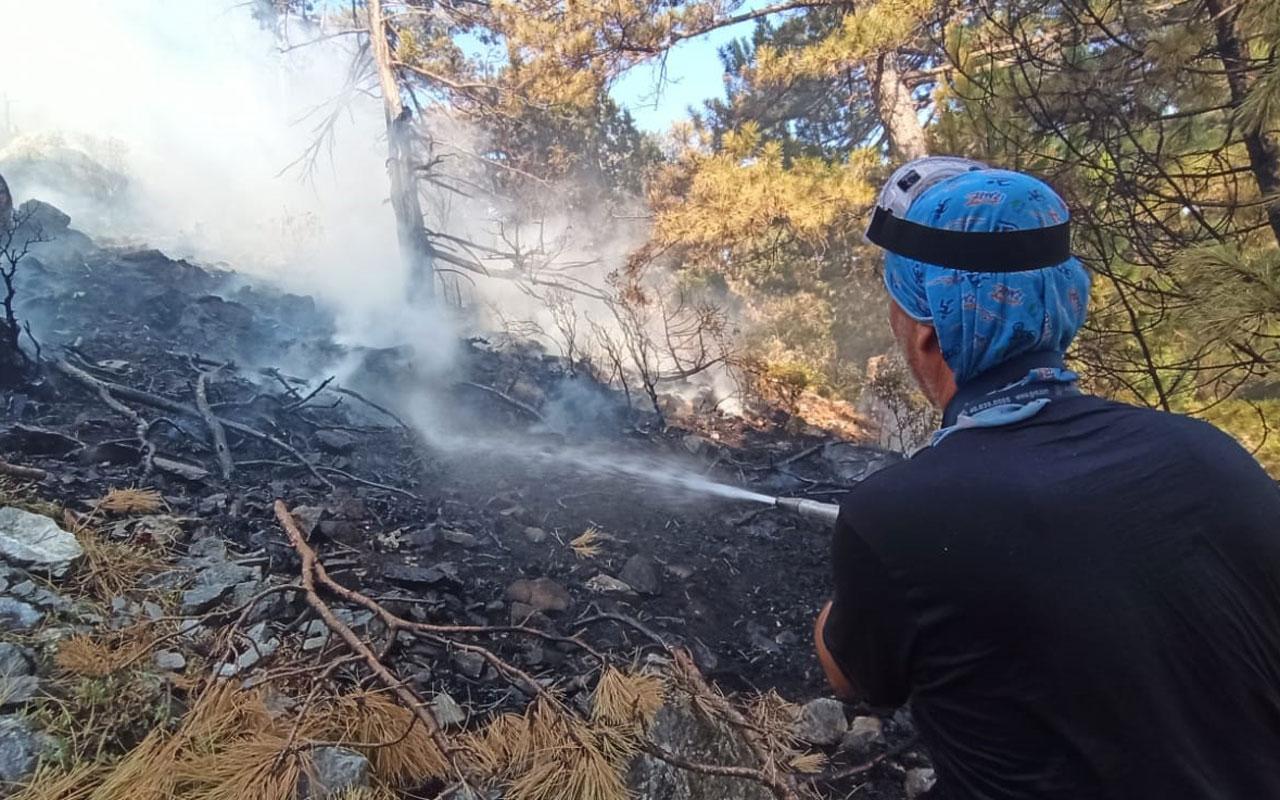 İZBAK Köyceğiz ekibi yangın soğutma çalışmasına katılıyor