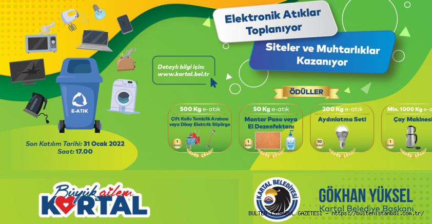 KARTAL'DA ELEKTRONİK ATIKLAR KAZANDIRIYOR