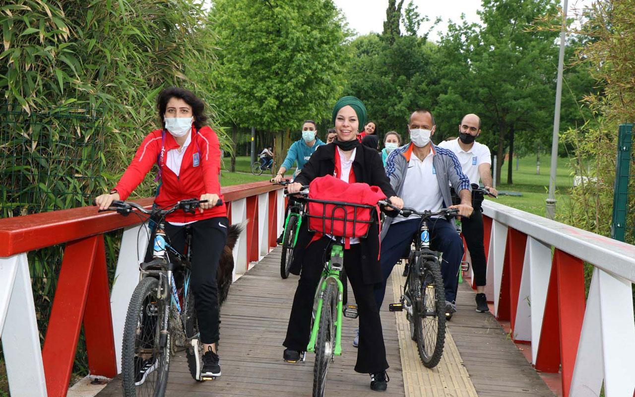 Kocaeli'de 'anne şehir' katılımcıları pedal çevirdi