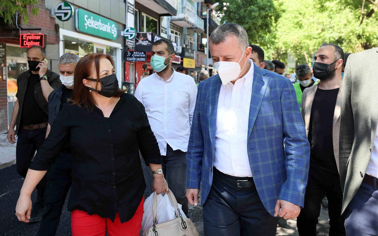 Kocaeli'de Başkan Büyükakın, İzmit sokaklarını arşınladı