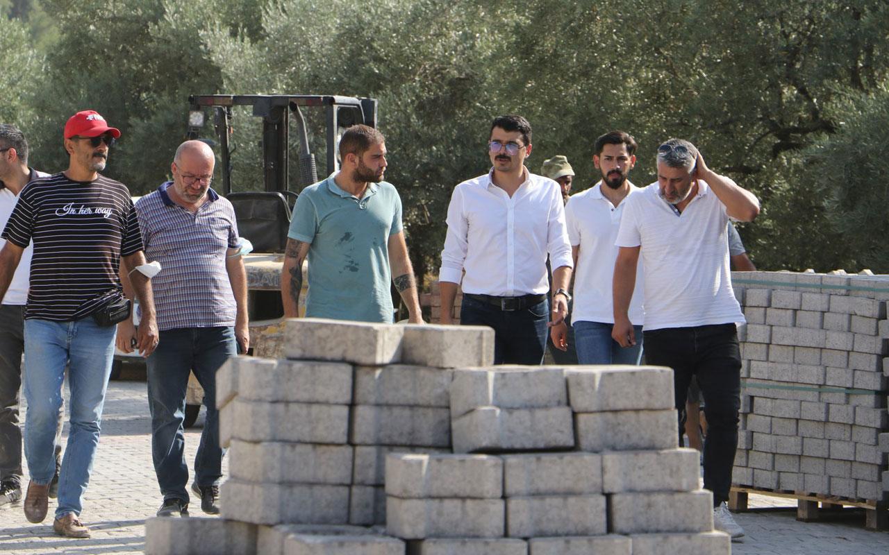 Manisa Ahmetli'de altyapı sonrası üstyapı çalışmaları başladı