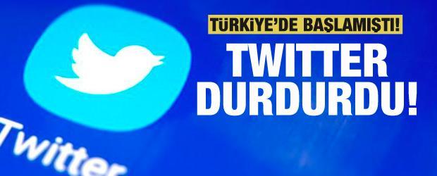 Türkiye'de test ediliyordu! Twitter durdurdu!