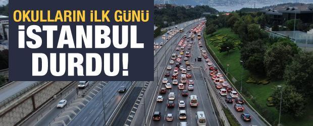 Yüz yüze eğitimin ilk günü İstanbul trafiğinde yoğunluk